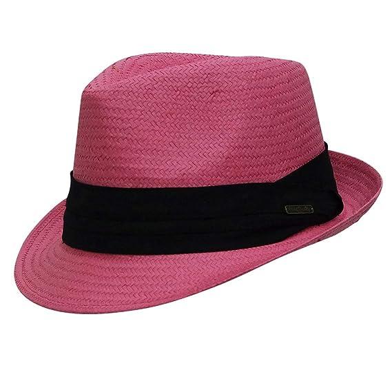 c08e853f14d Chapeau-tendance - Trilby rosi style panama ruban noir - - Homme ...