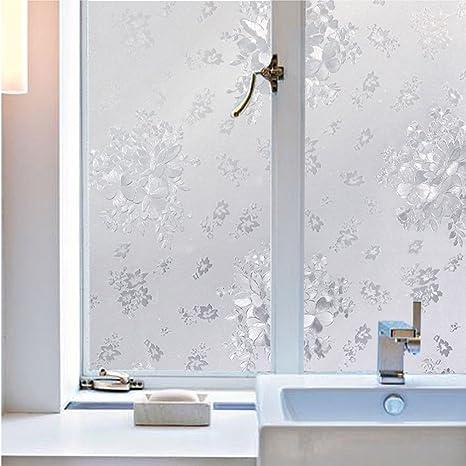 likesnow reciclable esmerilado vidrio de privacidad película para ventana Control calor y anti UV 3d adherencia estática privacidad para cristal no pegamento pegatinas electrostático, diseño de 35.4 por 78.7: Amazon.es: Hogar