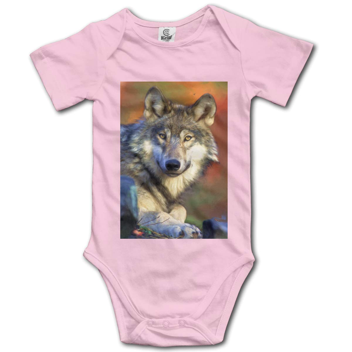 Wolfs Painting Graffiti Boys /& Girls Black Short Sleeve Romper Bodysuit Outfits for 0-24 Months