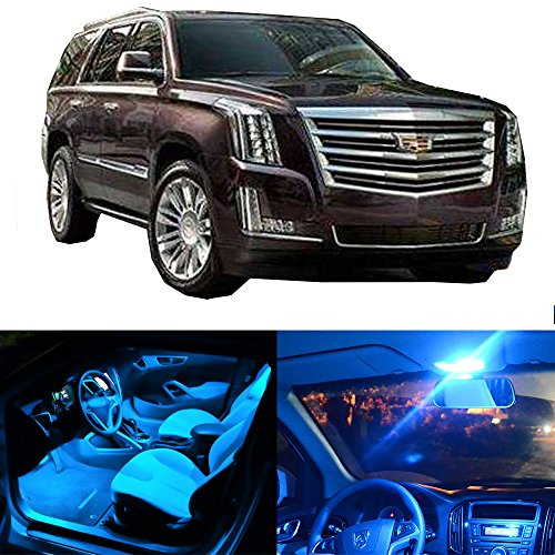 cciyu LED Interior Lights Accessories Replacement Package Kit 14 Pack Ice Blue Replacement fit for 2002-2006 Cadillac Escalade EXT