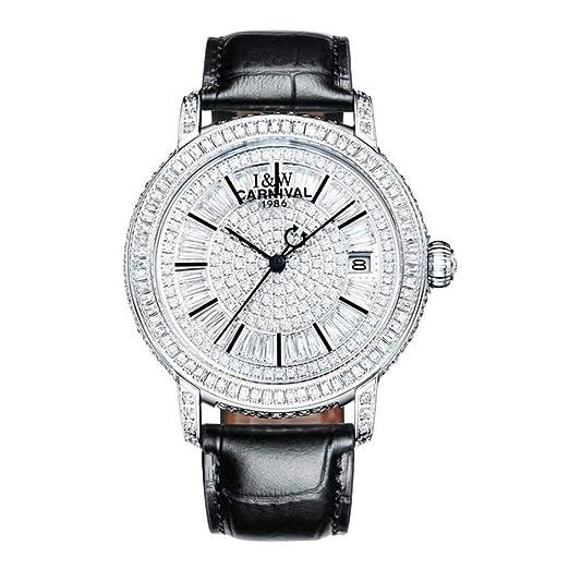 CARNIVAL Relojes para Mujer, Moda Diamante de Imitación Relojes de Pulsera Automatico Reloj Mecanico Correa