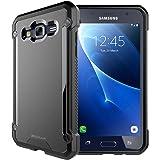 TECHGEAR® Samsung Galaxy J3 2016 (SM-J320 Series) [FUSION ARMOUR] Premium Slim Hybrid Protective Bumper Case Cover (All Black)