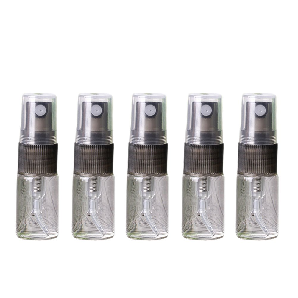 10 Pcs 3ml 5ml 10ml Clear Glass Refillable Perfume Sample Spray Bottles Mini Empty Travel Mist Spray Atomizer Cosmetic Liquid Sprayer Pump Bottle Container (10ml) Rimandy