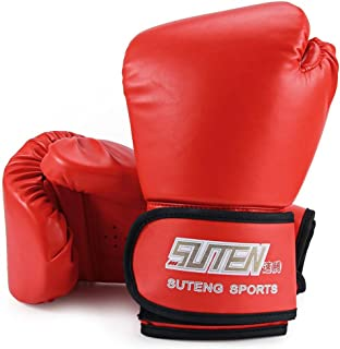CHYIR 1Paire PU en Mousse Souple en Caoutchouc Gants de Boxe Kickboxing entraînement MMA Fighting Sac de Sable