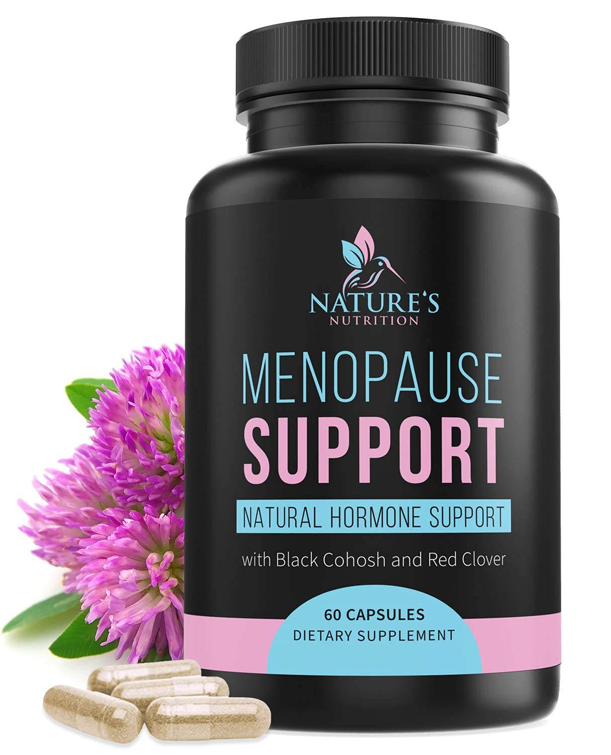 Menopause Supplements Extra Strength Hot Flash Support 1256 mg - Menopause Support for Women - Made in USA - Natural Support with Black Cohosh, Dong Quai & Soy Isoflavones - 60 Capsules