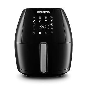Gourmia - Digital Air Fryer - Black - 6-quart