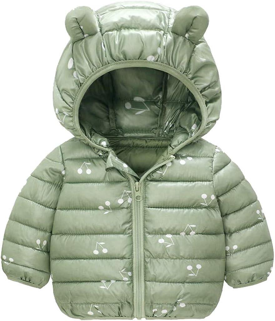 Infants Toddlers Hooded Jackets Zipper Up Coat Tops SHINEHUA Coats for Kids Light Puffer Jacket for Baby Boys Girls