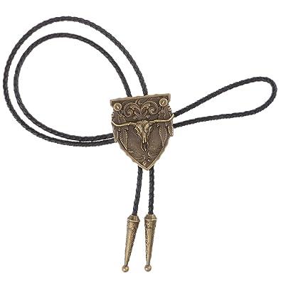 Collar de Corbata de Lazo Vintage Bolo Tie de Vaquero Occidental ...