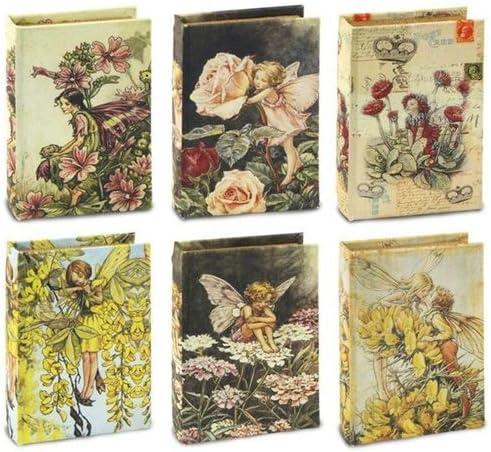SIGNES Caja en Forma de Libro x6 NINFA 14 cm: Amazon.es: Hogar