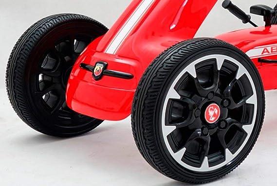 Babycoches Kart de Pedales - Coche de Pedales - Go Kart - Fiat Abarth, Ruedas neumaticas, carenado de Proteccion, Freno de Mano, Asiento Regulable, ...