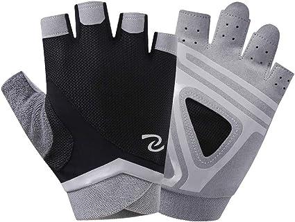 Guantes de Ciclista Media Mano Cycling Gloves Half Finger Men Women/'s