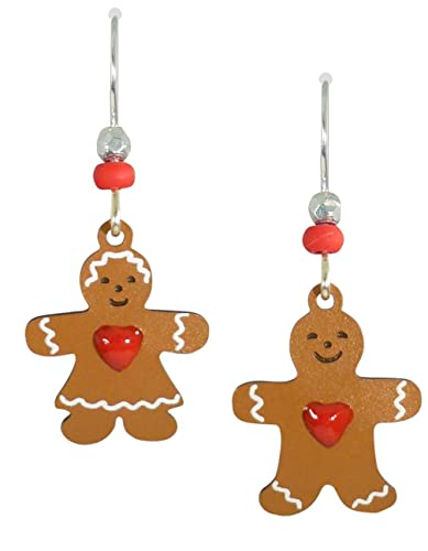 sienna sky christmas gingerbread man and woman earrings 1081 - Christmas Gingerbread Man