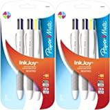 Sanford Paper Mate InkJoy Quatro Retractable Medium Point Advanced Pens, Pack of 6 Multiple Colored …