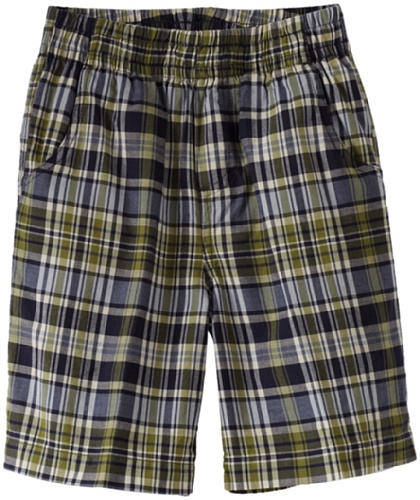 Wes and Willy Big Boys' Elastic Waist Large Plaid Short