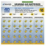 Avid Hearing Aid #10 Battery (40 Count)