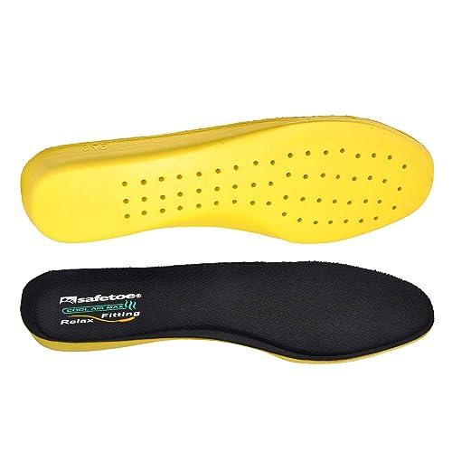SAFETOE Plantillas Memory Foam para Zapatos Amortiguación y Cómodas, Plantillas Fascitis Plantar Deportivas y Buen Transpirable para Trabajo, Senderismo, ...