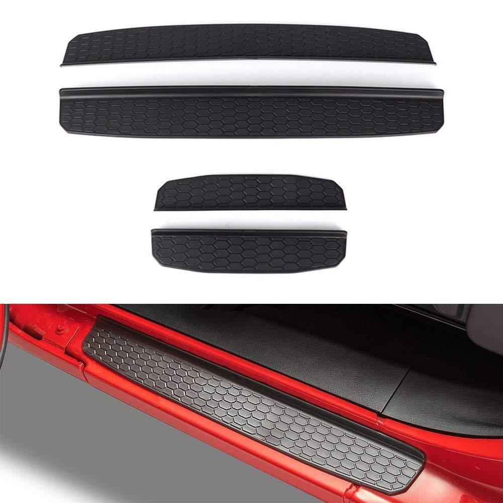 2018 Wrangler JL anteriore e posteriore guardie ingresso porta entrata davanzale piastra protezioni Beside_Auto