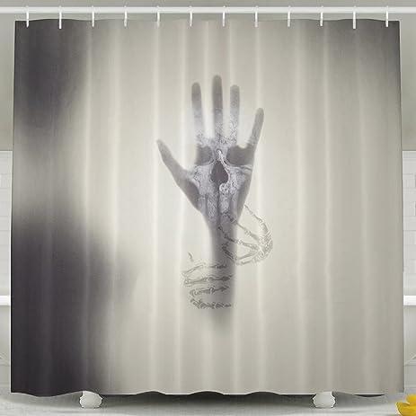 Amazon Batheman Shower Curtain Hand Silhouette Shape Horror