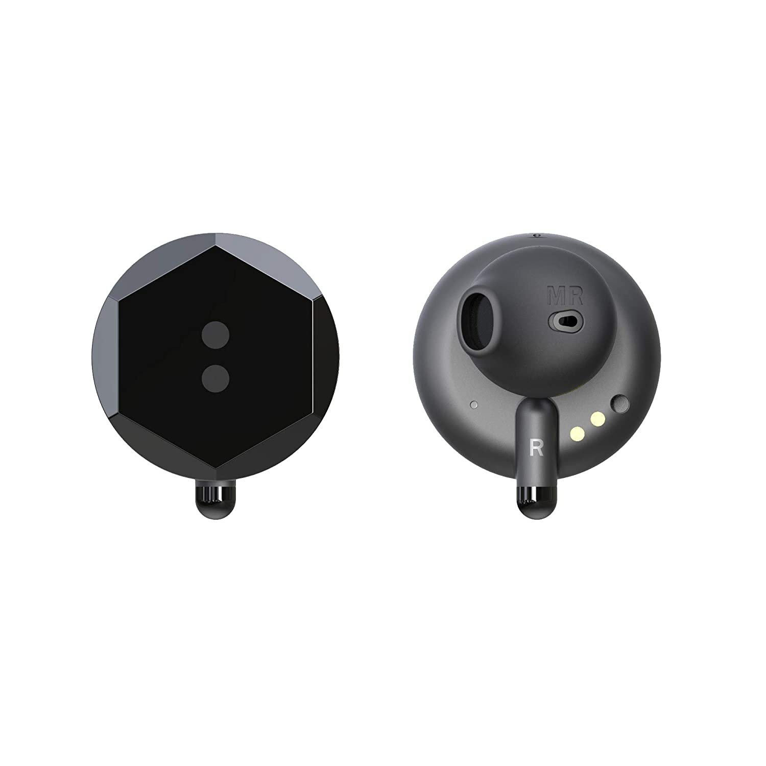 Buttons Air will.I.am Wireless Earbuds with Portable Charging Case IPX5 Splash Bluetooth 5.0 Built in Mic Headset Premium Sound with Deep Bass for Sport
