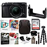 Fujifilm X-E3 Mirrorless Digital Camera w/XF18-55mm f/2.8-4 R LM OIS Lens (Black) w/BLC Leather Case, 64GB Memory Card & Editing Software Bundle