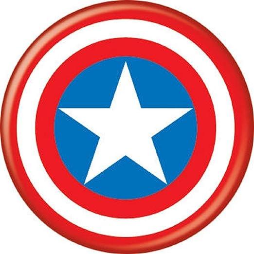 amazon com ata boy marvel comics captain america logo 1 25