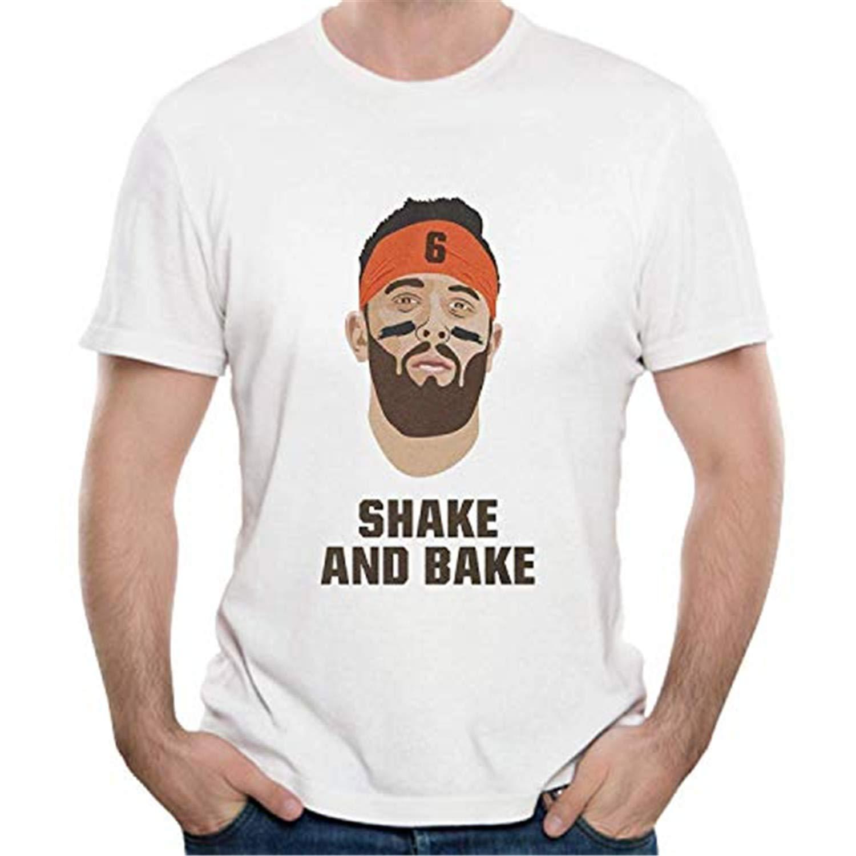 lasdmingliang Baker T-Shirt Mayfield Shake and Bake Cotton Mens T-Shirts Short Sleeve Tees /& Tops Clothing WhiteMedium