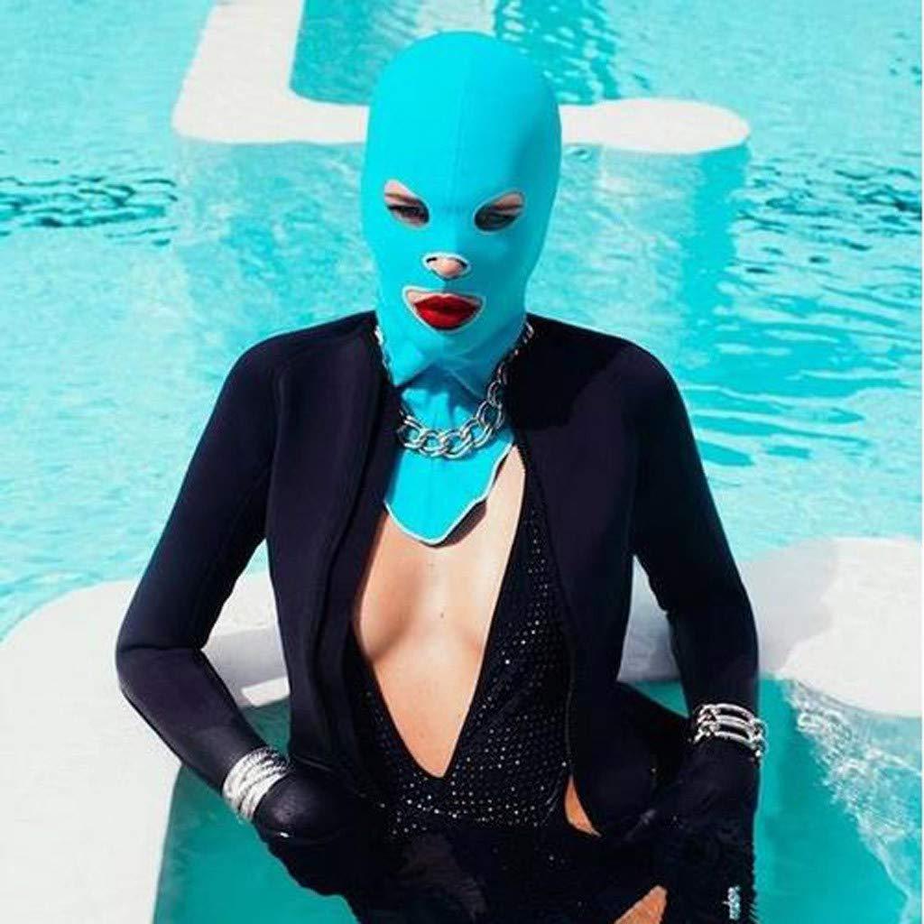 DIOMOR Fashion Snorkeling Pure Color Swim Cap Head Sunscreen UV Protection Outdoor Mask Funny Facekini Sunblock
