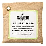 California Home 200g Activated Bamboo Charcoal Deodorizer Natural, Air Purifying Bag, Dehumidifier, Allergy-Free Filters, Odor Neutralizer for Home, Shoes, Car