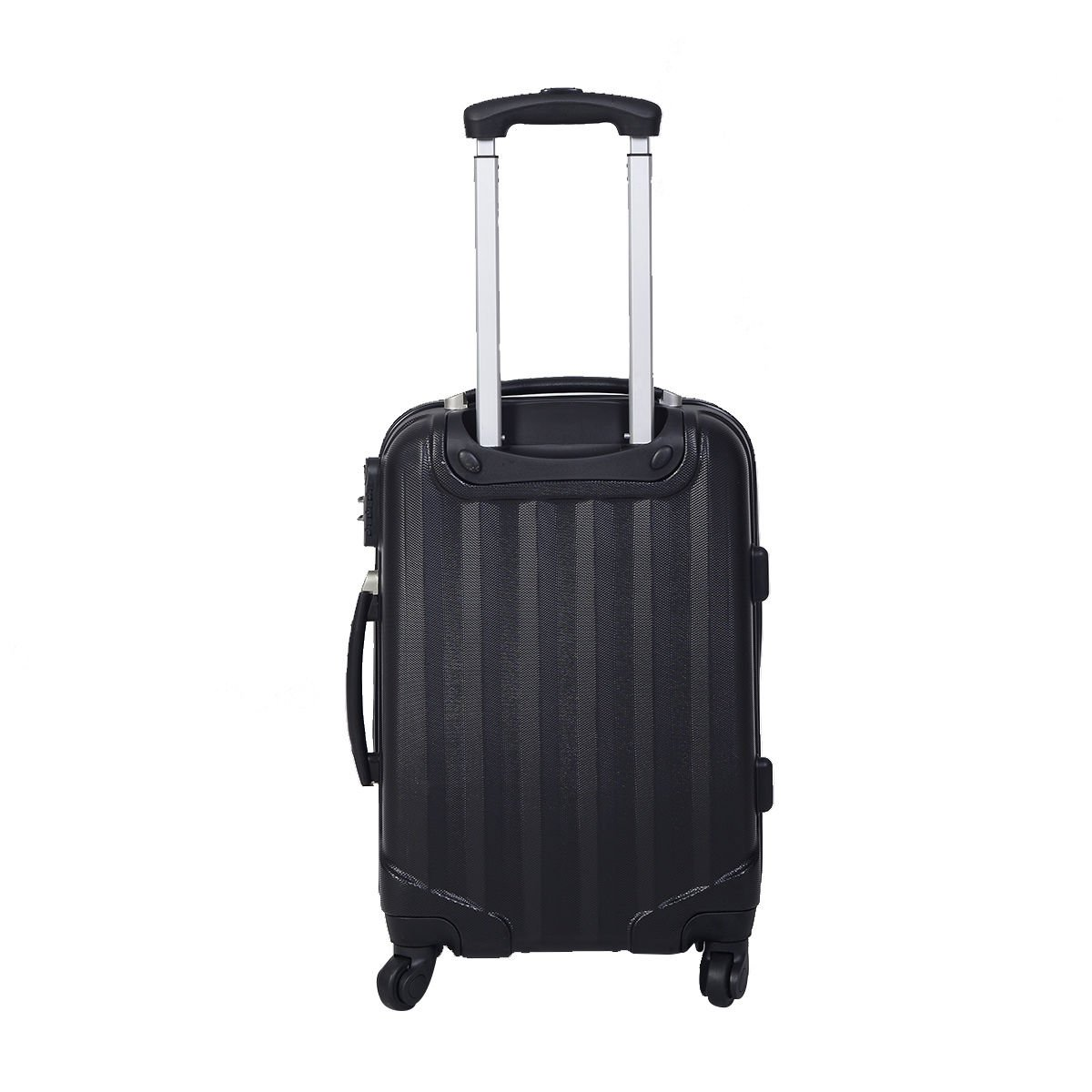 GLOBALWAY 3 Pcs Luggage Travel Set Bag ABS Trolley Suitcase w//TSA Lock Black 20 24 28 Standard Size US Shipping!