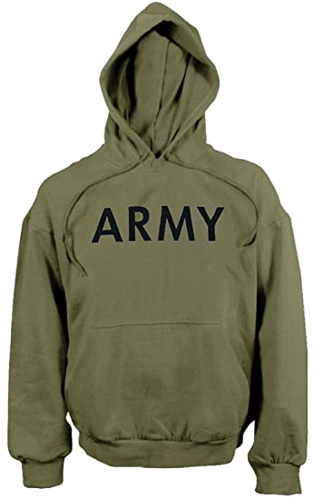 Image Unavailable. Image not available for. Color  Od Green Army Military  Long Sleeve Physical Training Hooded Sweatshirt e700d3218