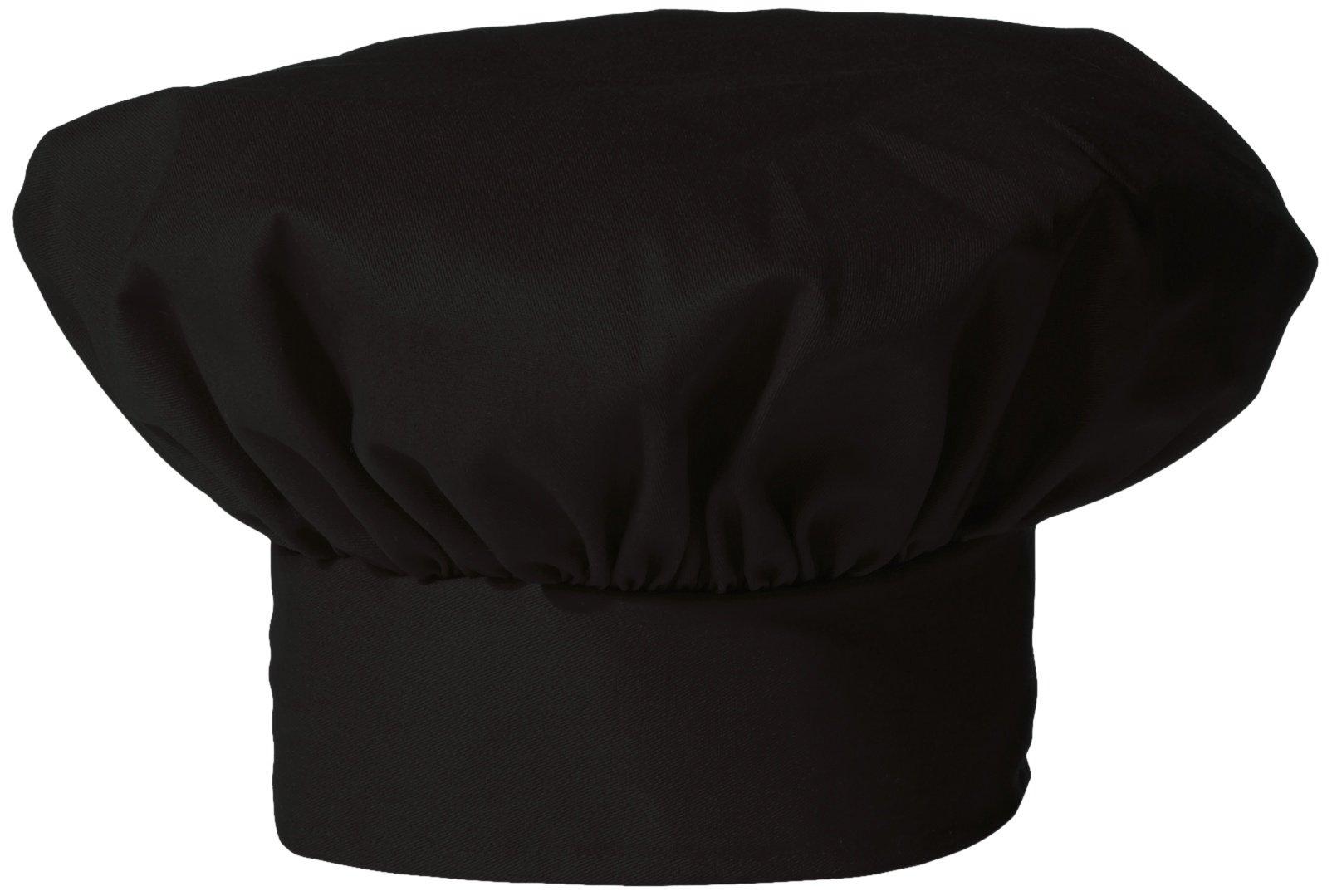 Uncommon Threads Unisex Twill Chef Hat, Black, One Size