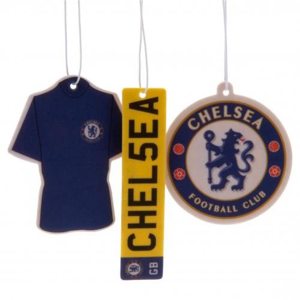 Geschenk f/ür Herren und Jungen 3 St/ück-Ideal f/ür Weihnachten Chelsea FC Lufterfrischer Auto