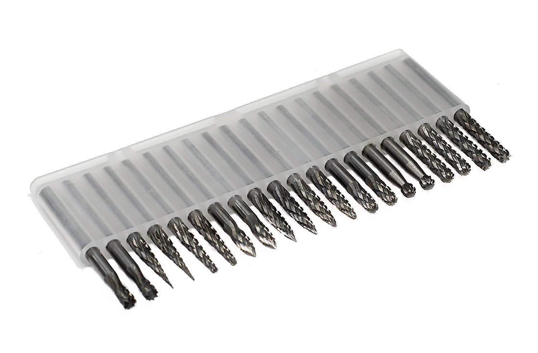 10Pcs 6MM Tungsten Steel Carbide Cut Rotary Burrs Drill Bits Mix Set 3MM Shank