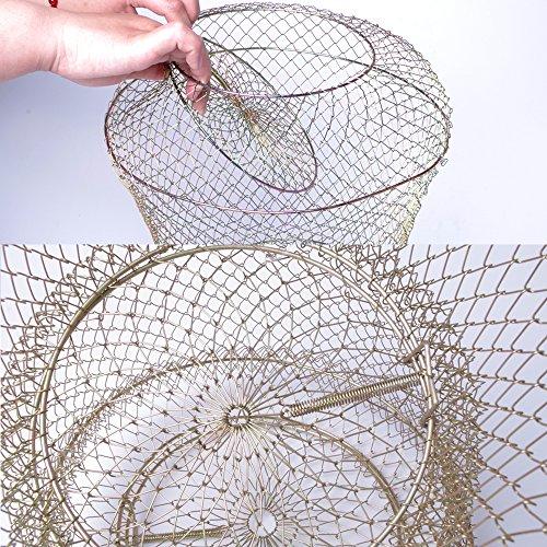 IDEALUX Floating Draht Fisch Korb, Rund Draht Fisch Korb 3 Lagen ...
