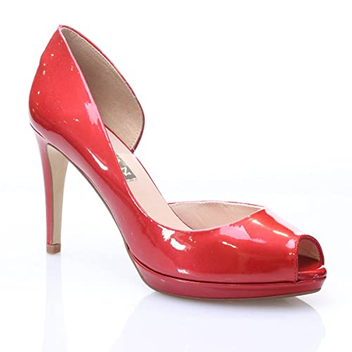 Y Marian Alto Amazon Costado Charol Complementos Zapatos Abierto rYYwCa4qR