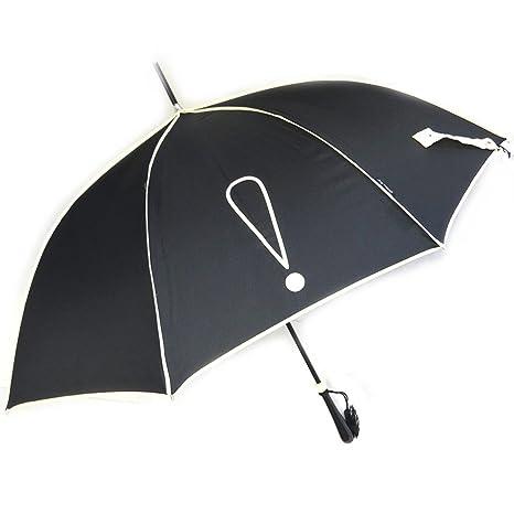 Paraguas de caña Joy Heartblanco negro (signo de exclamación).