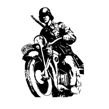 Krad Detector Soldier Motorcycle R75 Ks750 Wallpaper Classic Car Machine 64x45cm