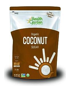 Health Garden Coconut Sugar - Gluten Free - Organic - Non GMO - Kosher - Keto Friendly (3 lb)