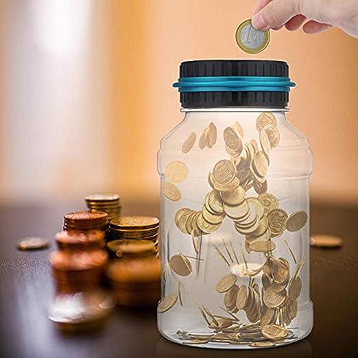 Bote electrónico digital LCD de ahorro de dinero para contador de monedas: Amazon.es: Hogar