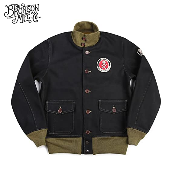 Men's Vintage Style Coats and Jackets Bronson 980g Heavy Weigh Woolen Fabric A-1 Civilan Flight Jacket $129.99 AT vintagedancer.com