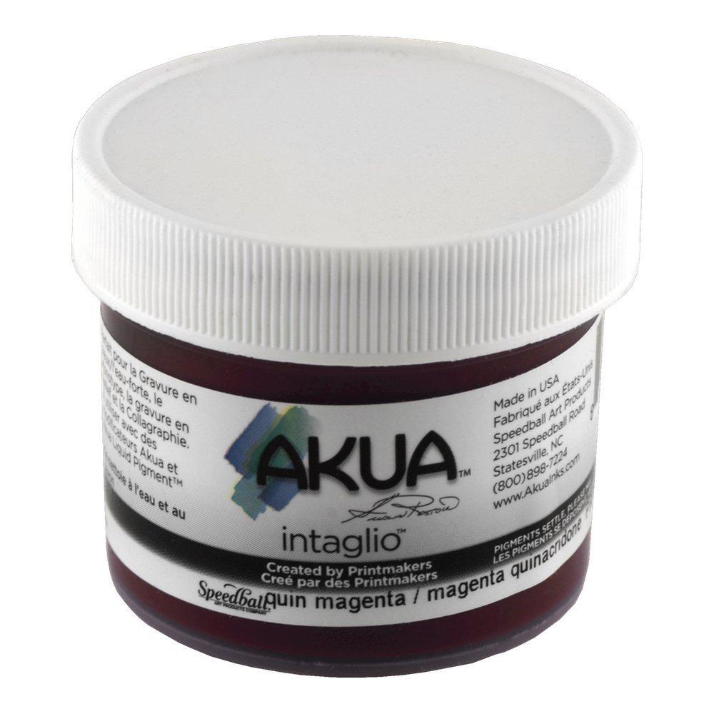 Akua Intaglio Print Making Ink, 2 oz Jar, Quinacridone Magenta (IIQM2) SPEEDBALL ART PRODUCTS