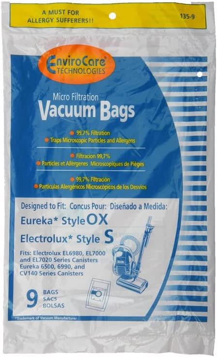27 OX Bags Electrolux Sanitaire Oxygen Ultra Harmony Eureka BB Bags Ultra SP6950
