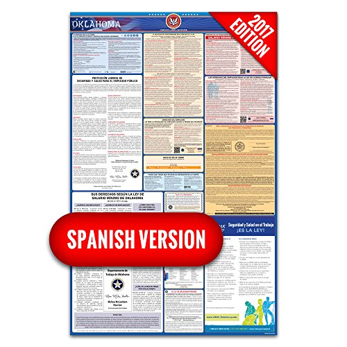 2017 Oklahoma (Spanish) Labor Law Poster – State & Federal Compliant – Laminated
