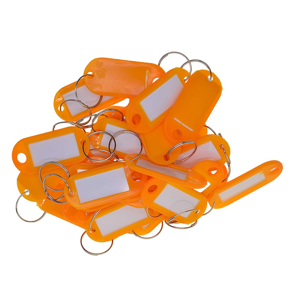 B Baosity 50x Solid Study Colored Waterproof Plastic Key Fob Luggage