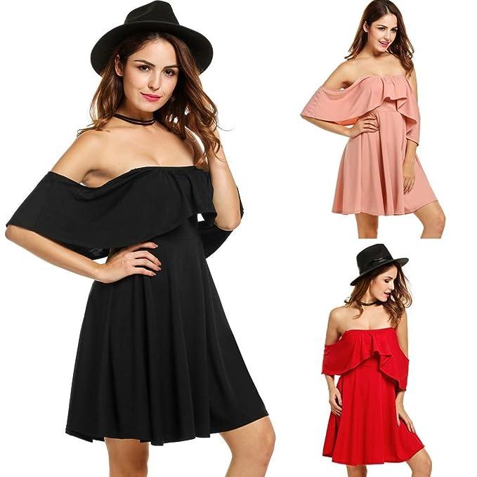 Image Unavailable. Image not available for. Color  Nessere Short Sleeve  Romper Party Dress Off Shoulder Dresses ... e9f55c5af