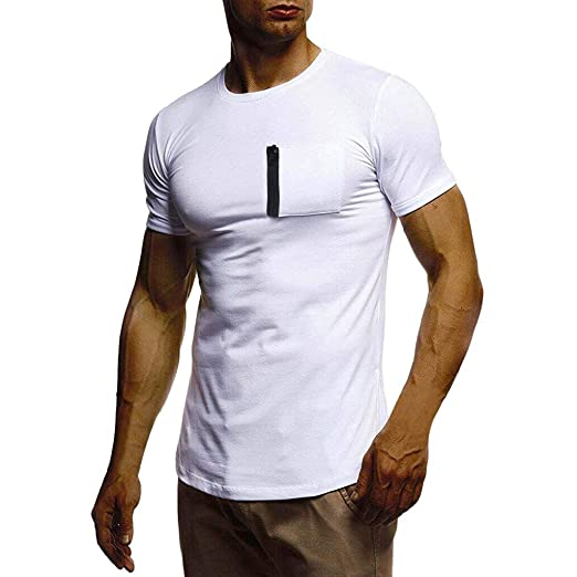 bbe187429ef8 VonVonCo Men's Summer T-Shirt Short Sleeve Crew Neck Muscle Basic ...