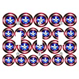Multiple Captain America Shields Design Print Image 3 Toggle Electrical Switch Wall Plate (6.56 x 4.69in)