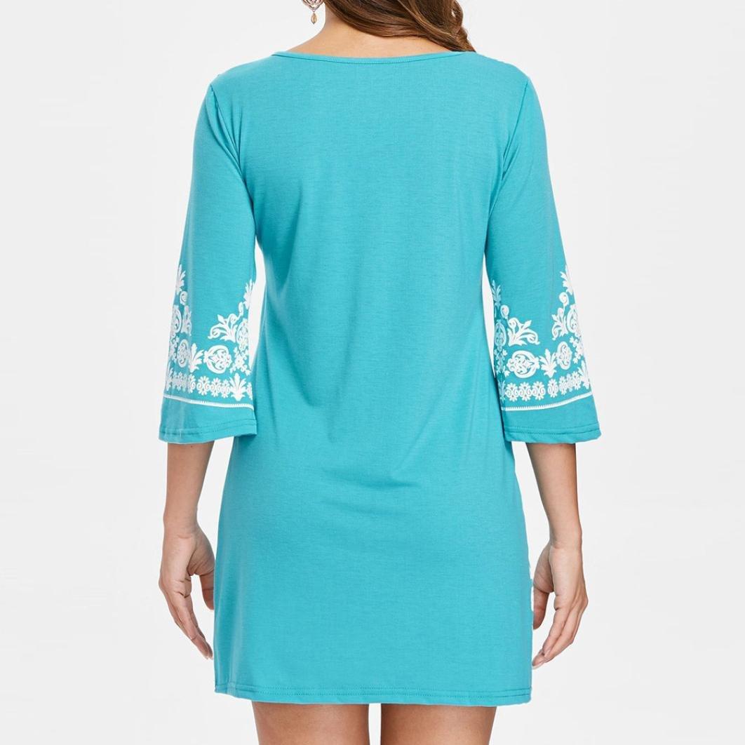 Alixyz Women Bohemian Sundress Casual Fashion Floral Strapless Mini Beach Dress