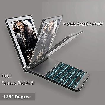 iEGrow Funda de Teclado iPad Air 2 para iPad Air 2 Modelo ...