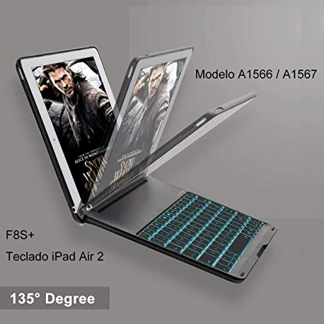 iEGrow Funda de Teclado iPad Air 2 para iPad Air 2 Modelo A1566 / A1567,
